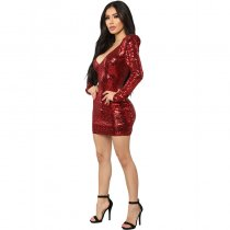Here To Shine Sequin Dress