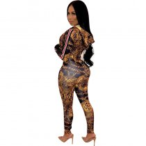 Personalized Printing Metal Elements Jumpsuits