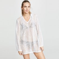 Long Sleeve Lace Cover Up Dress