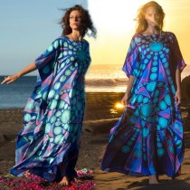 Circle Woman Long Caftan Maxi Dress