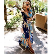 Santa Monica Beach Floral Dress Cover Up