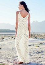 Hollow Out knitted Holiday Vest Beach Dress