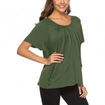 Casual Solid Color T-shirt Top