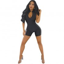 Zipper Skinny One-piece Rompers