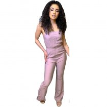Casual Sweet Sling Bandage Jumpsuit