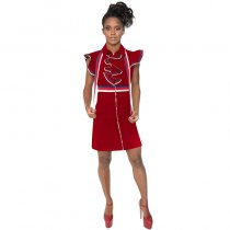 Ribbon Splicing Club Dress