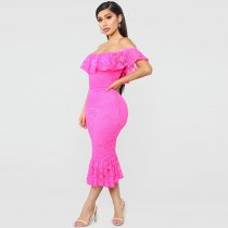 Sweet Innocence Lace Midi Dress
