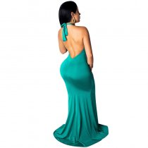 Halter Backless Evening Dress