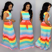 Amy Stripes Maxi Dress