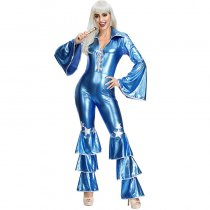 Bronzing Ruffle Jumpsuit Costumes with Belt