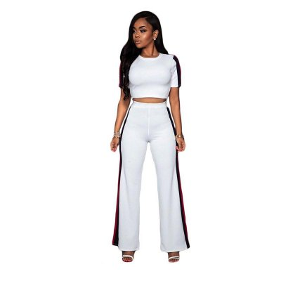 Milano Off-White Stripes Two Piece Set