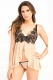 Open Lace Chemise and G-String Set L27797