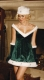 Green And White Ladies Velvet Christmas L7043