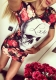 Print Skull Love Red Flower Floral Dress L28200
