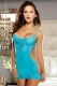 Lace and Mesh Chemise with Thong L2524-1