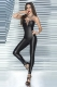 Lace-Up Wet Look Jumpsuit L55314-2