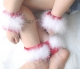 White Fur Christmas Handcuffs and Leg irons TY046