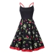 Cherry Print Slip Fit and Flare Dress 36190