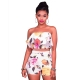 Damla White Floral Two Piece Set 282421-2