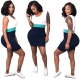Color Block Round Neck Sleeveless Bodycon Dress