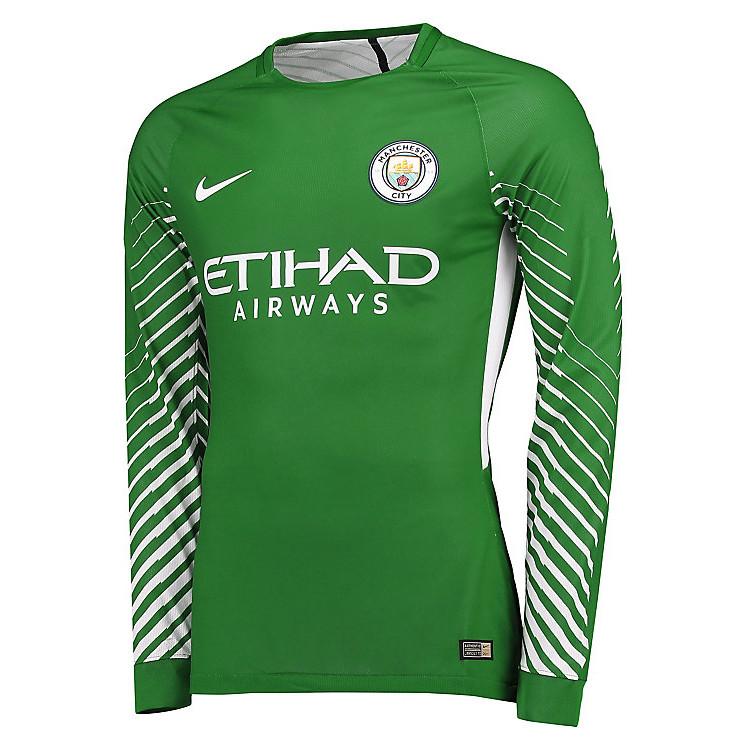 Buy Manchester City Goalkeeper Jersey Green Men 2017/18 ...
