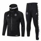 Mens PSG x Jordan Hoodie Jacket + Pants Training Suit Black 2019/20