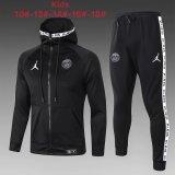 Kids PSG x Jordan Jacket + Pants Training Suit Black 2019/20