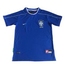 Brazil Retro Away Jersey Mens 1998