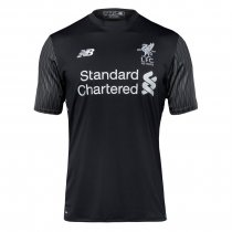 Liverpool Goalkeeper Black Jersey Short Sleeve Men 2017/18