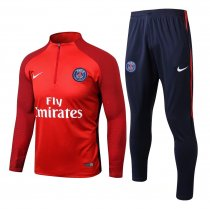 PSG Training Suit Red Stripe 2017/18