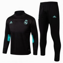 Real Madrid Training Suit Turtle Neck Black 2017/18