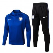 Inter Milian Training Suit Zipper Blue 2017/18