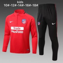 Kids Atletico Madrid Training Suit Red 2017/18