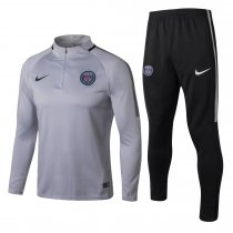 PSG Training Suit Zipper Light Grey 2017/18