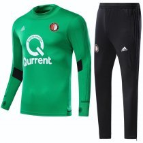 Feyenoord Rotterdam Training Suit Turtle Neck Zipper Black 2017/18