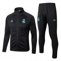 Real Madrid Jacket + Pants Training Suit Black 2017/18