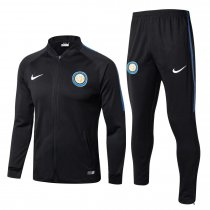 Inter Milan Jacket + Pants Training Suit Black 2017/18