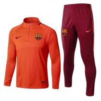 Barcelona Training Suit Zipper Orange 2017/18