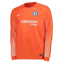 Chelsea Goal Keeper Jersey Orange Men 2017/18 - Long Sleeve