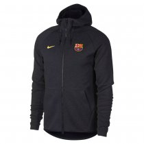 Barcelona Authentic Full Zip Hoodie Jacket Grey Men 2017/18