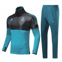 Real Madrid Training Suit Champions League Black/Blue 2017/18