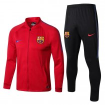 Barcelona Jacket + Pants Training Suit Red 2017/18