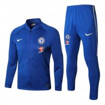 Chelsea Jacket + Pants Training Suit Blue Carabao 2017/18