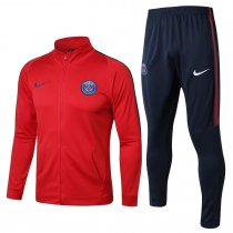 PSG Jacket + Pants Training Suit High Neck Red 2017/18