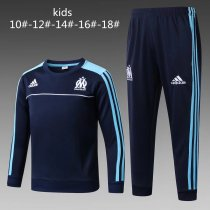 Kids Olympique Marseille Training Suit O'Neck Royal Blue 2017/18