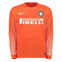 Inter Milan Goalkeeper Jersey Orange Men 2017/18 - Long Sleeve