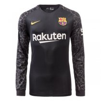 Barcelona Goalkeeper Black Jersey Long Sleeve Men 2017/18