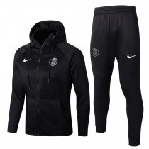 PSG Hoodie Jacket + Pants Training Suit Black 2017/18