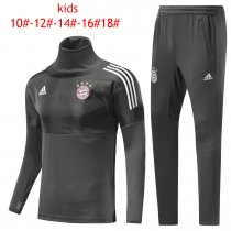Kids Bayern Munich Training Suit Turtle Neck Champions League Grey 2017/18