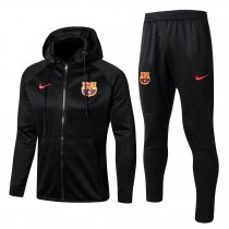 Barcelona Hoodie Jacket + Pants Training Suit Black 2017/18